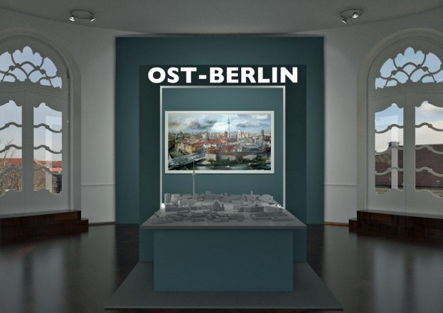 Presentation of a scale model of East Berlin